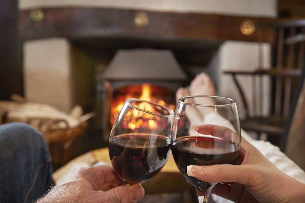 Cosy up in front of a log fire