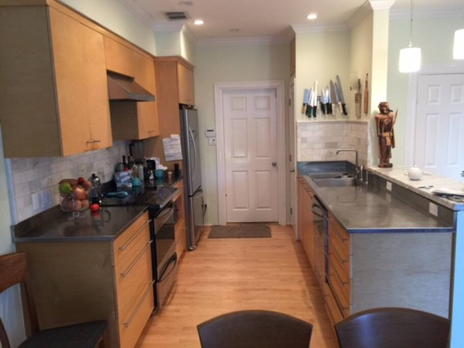 Kitchen designed by Chef / Owner.  Arrangements can be made for Chef Johnny to cook for you (Additional Cost), or Cook yourself and save.