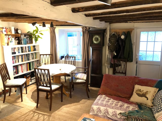 Room in simple South Molton cottage with log fire