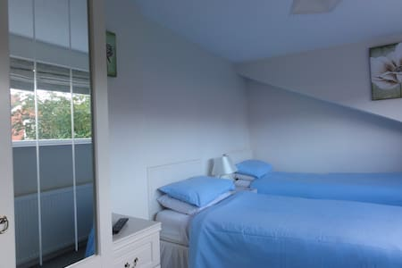 Twin room with private bathroom, close to town - Shrewsbury