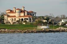 Waterfront homes on Galveston Bay