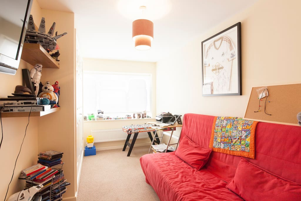 Playroom with double sofa bed