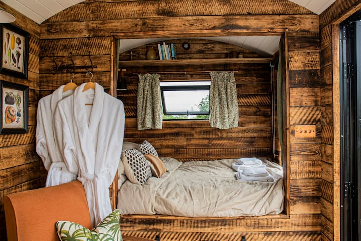 Get cosy in your robes whilst reading a book in bed, looking out over panoramic views of the Essex countryside.