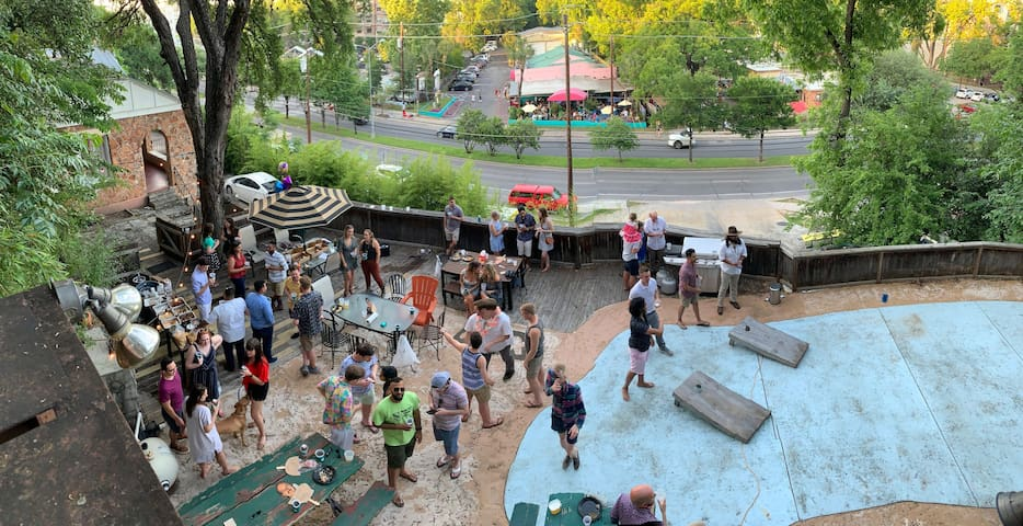 Lots of fun to be had on our 2,000 square foot patio!