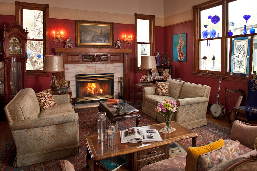 Inn's Great Room where small intimate Elopement Weddings are held (for overnight guests only)