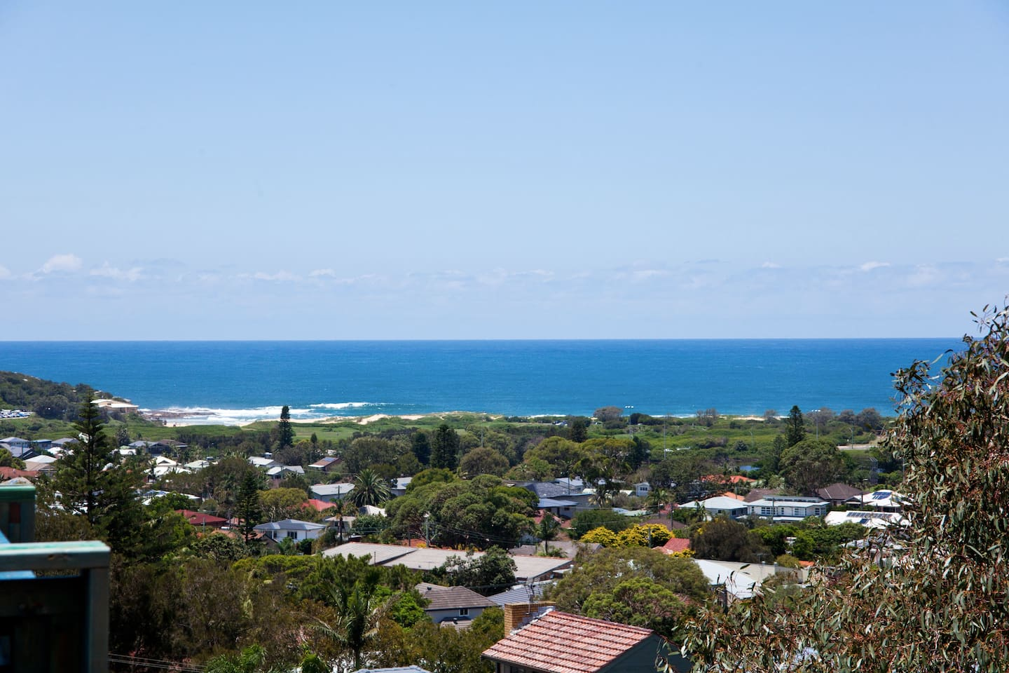 view from studio/apartment overlooking North Curl Curl