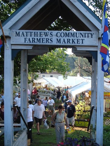 Every Saturday in downtown Matthews, the Farmers Market is always bustling.
