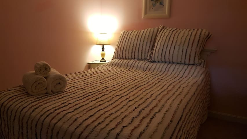 (1) Room w double bed available in Refinished Bsmt