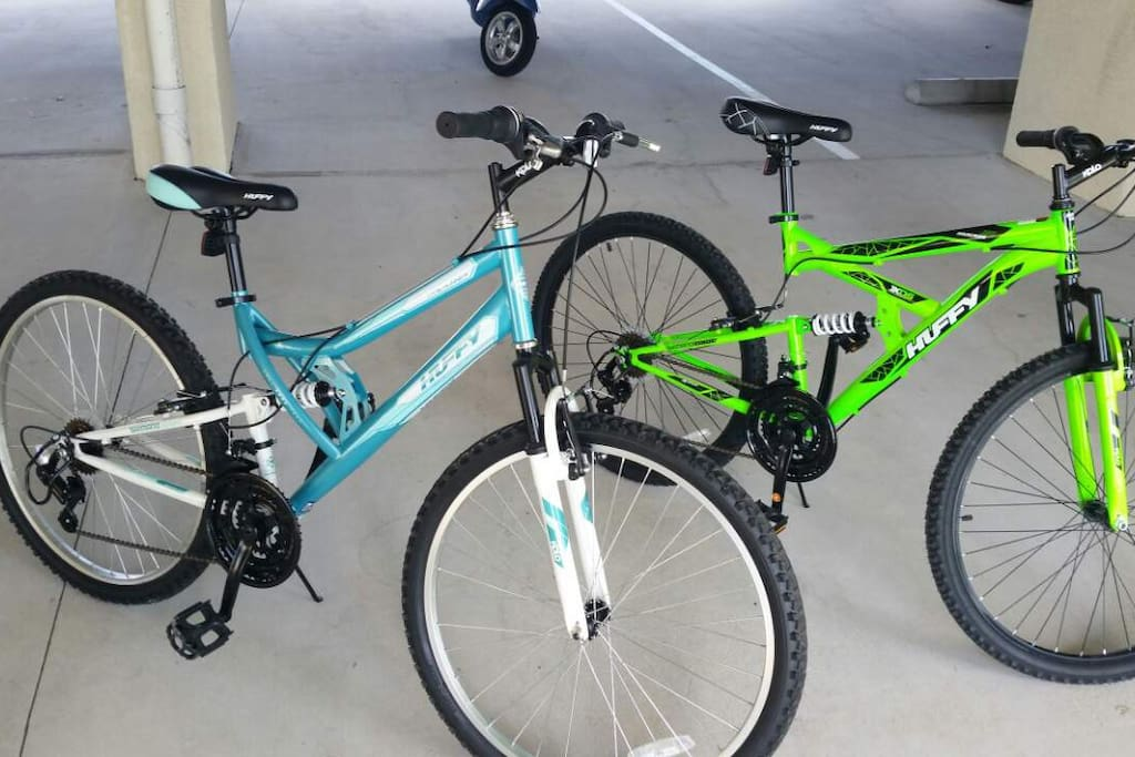 Bicycles available for our guests, no charge