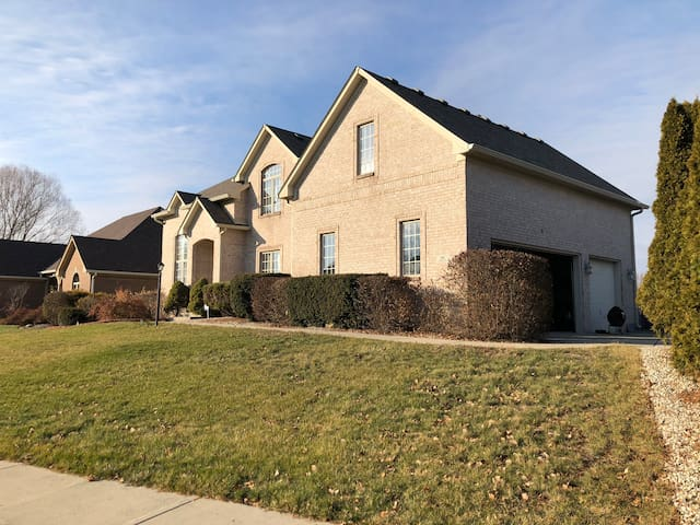 Luxury house in a quiet neighborhood