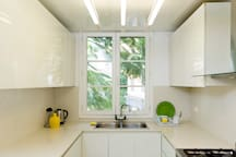 Plenty of cabinet space in the kitchen to store whatever you may need.