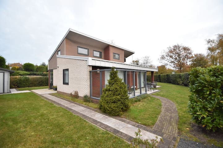 Modern holiday villa set on the Veerse Meer lake