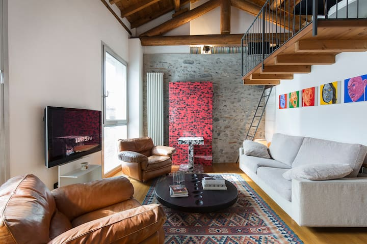 LOFT7 charming openspace + private parking