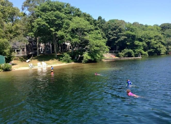 Beautiful vacation home on Mashpee-Wakeby Pond