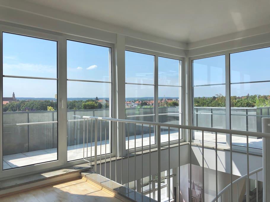 penthouse wohnung ber den d chern von amberg flats for rent in amberg bayern germany. Black Bedroom Furniture Sets. Home Design Ideas