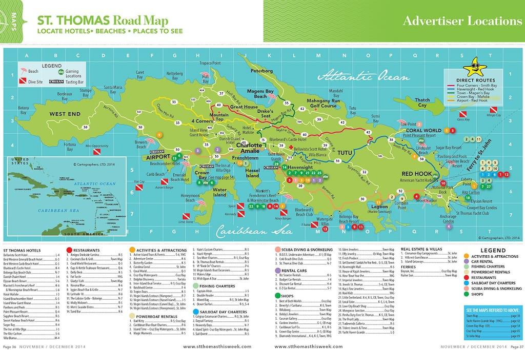Map of ST Thomas