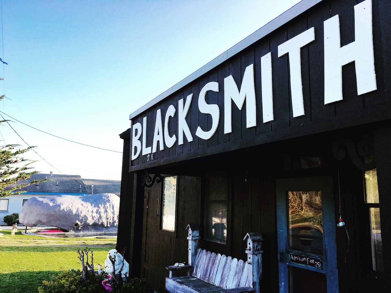 Blacksmith shop and Whale