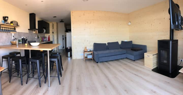 Appart cosy 5-7pers, T3 60m² | Vue panoramique 🏔☀️