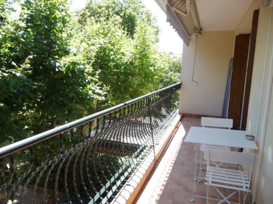 Balcon côté sud