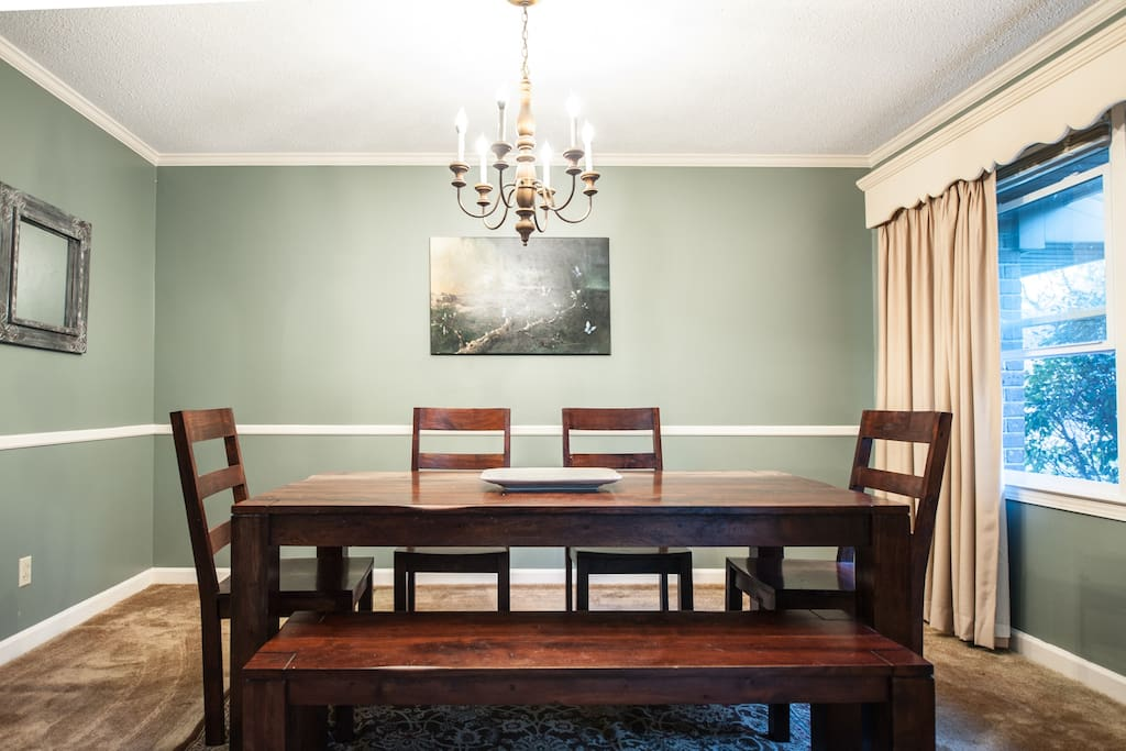 Private dinning room with access to kitchen.