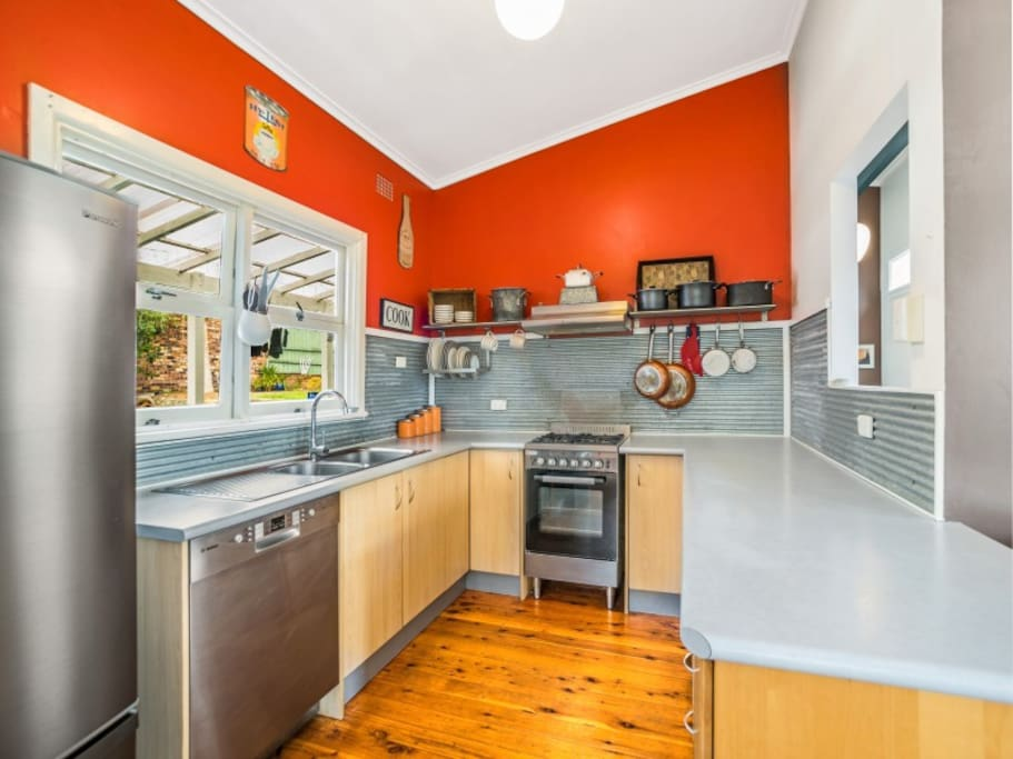 Retro kitchen with mod cons