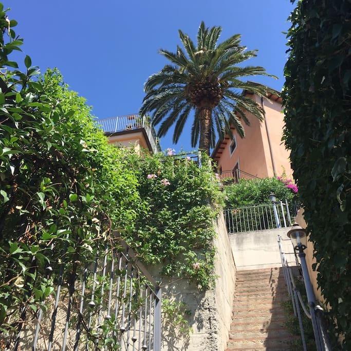 Palazzo Anter visto dal giardino