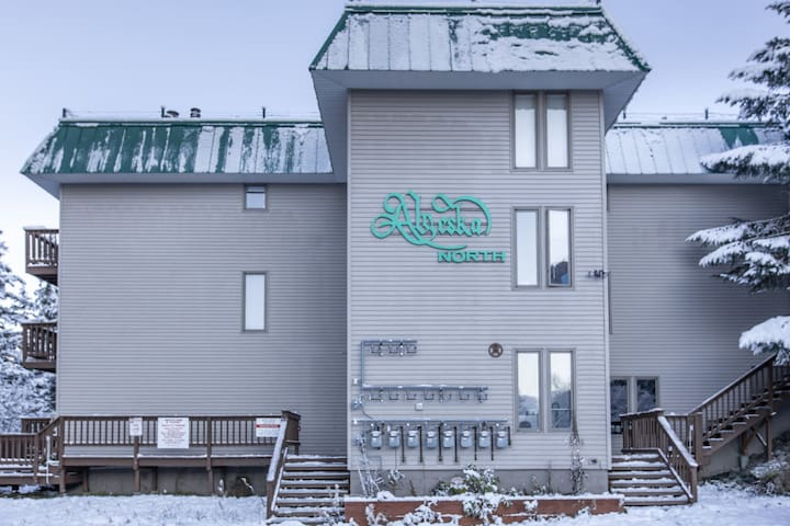 Small, ski-in/out functional condo right next door to the slopes!