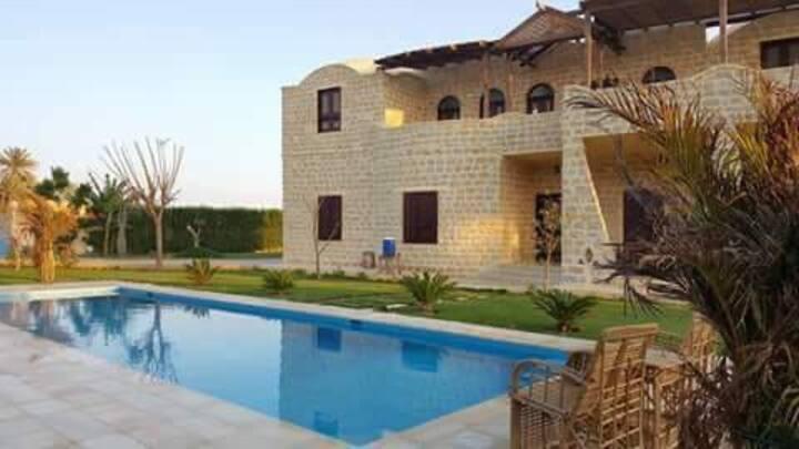 (Flamingo villa)Country Villa,Fayoum,Tunis village