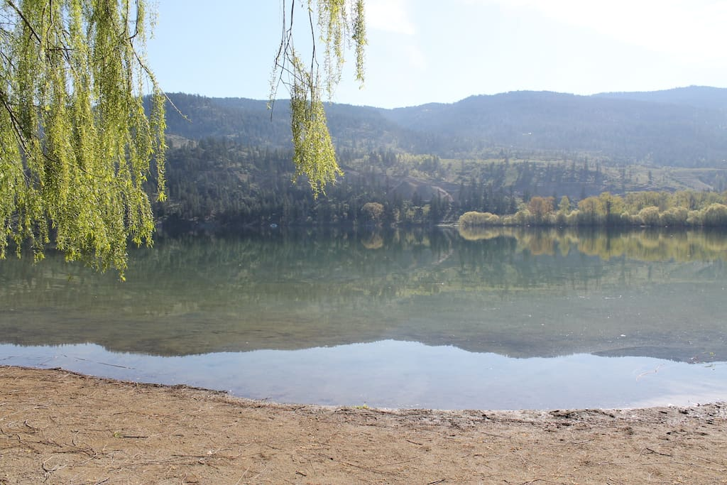 One of the nearby beaches on Kalamalka Lake (a short 5 minute walk from the home)