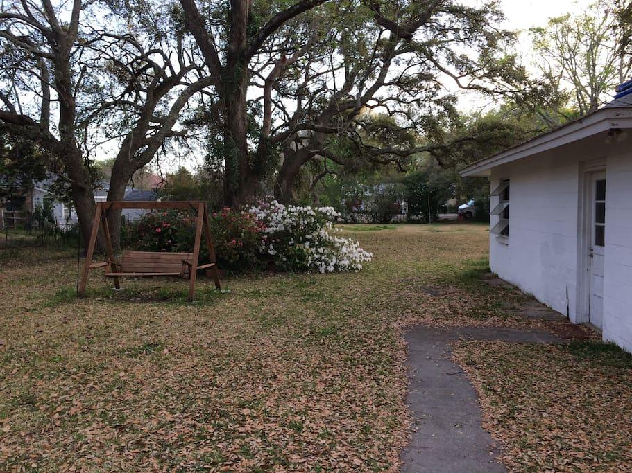 Big back yard!