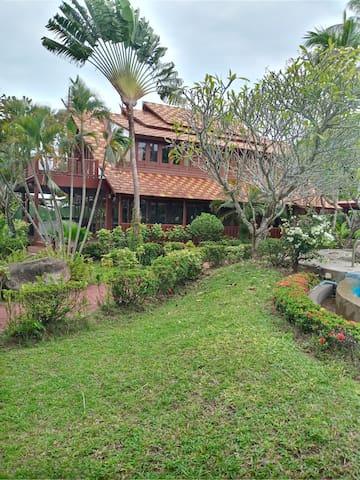 Thai Style Beachfront Villa with Sala
