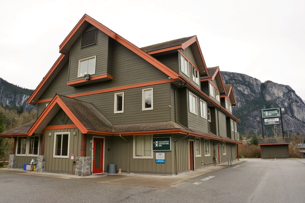 The building. Squamish Adventure Inn. Newly opened in March 2016.