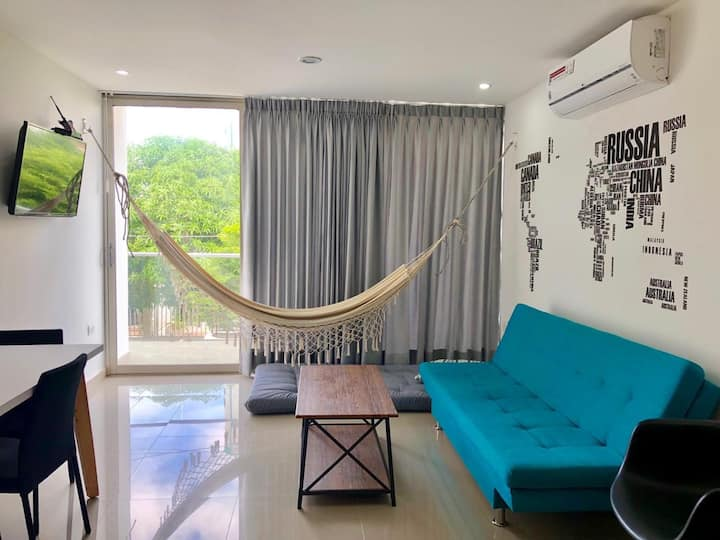 Hermoso apartamento 2Hab, AA, Netflix y Disney+