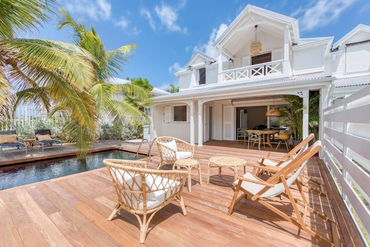 Villa PICAMAMA direct on Orient Bay Beach
