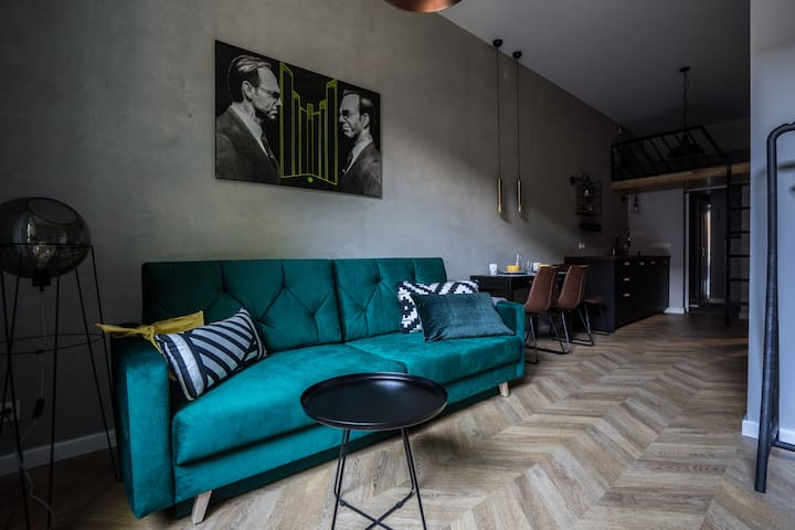 Funky loft studio in old Praga