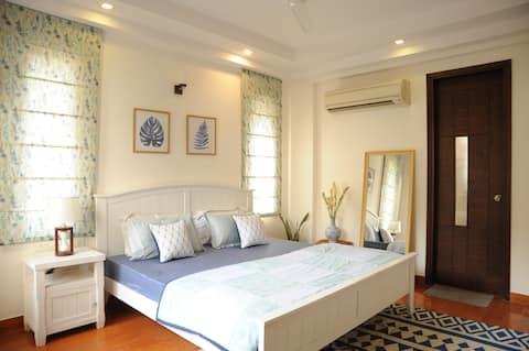 ★Bohemian Blue★Chic&Modern Room w/Bathtub &balcony