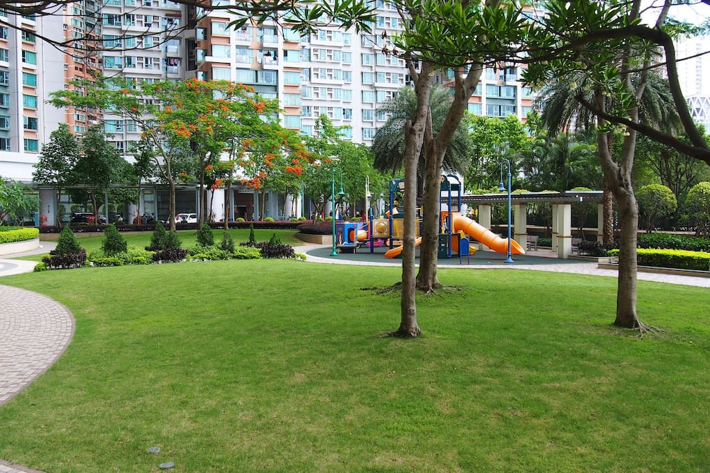 More playground areas for children.