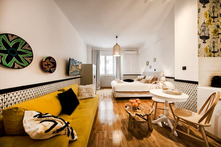 Designer renovated apartment in downtown Athens