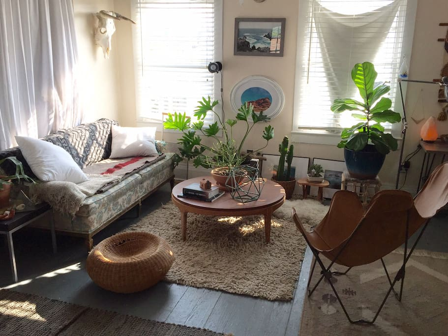 bright and cozy sitting area