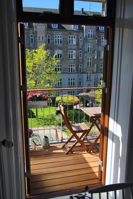 Door to the terrace