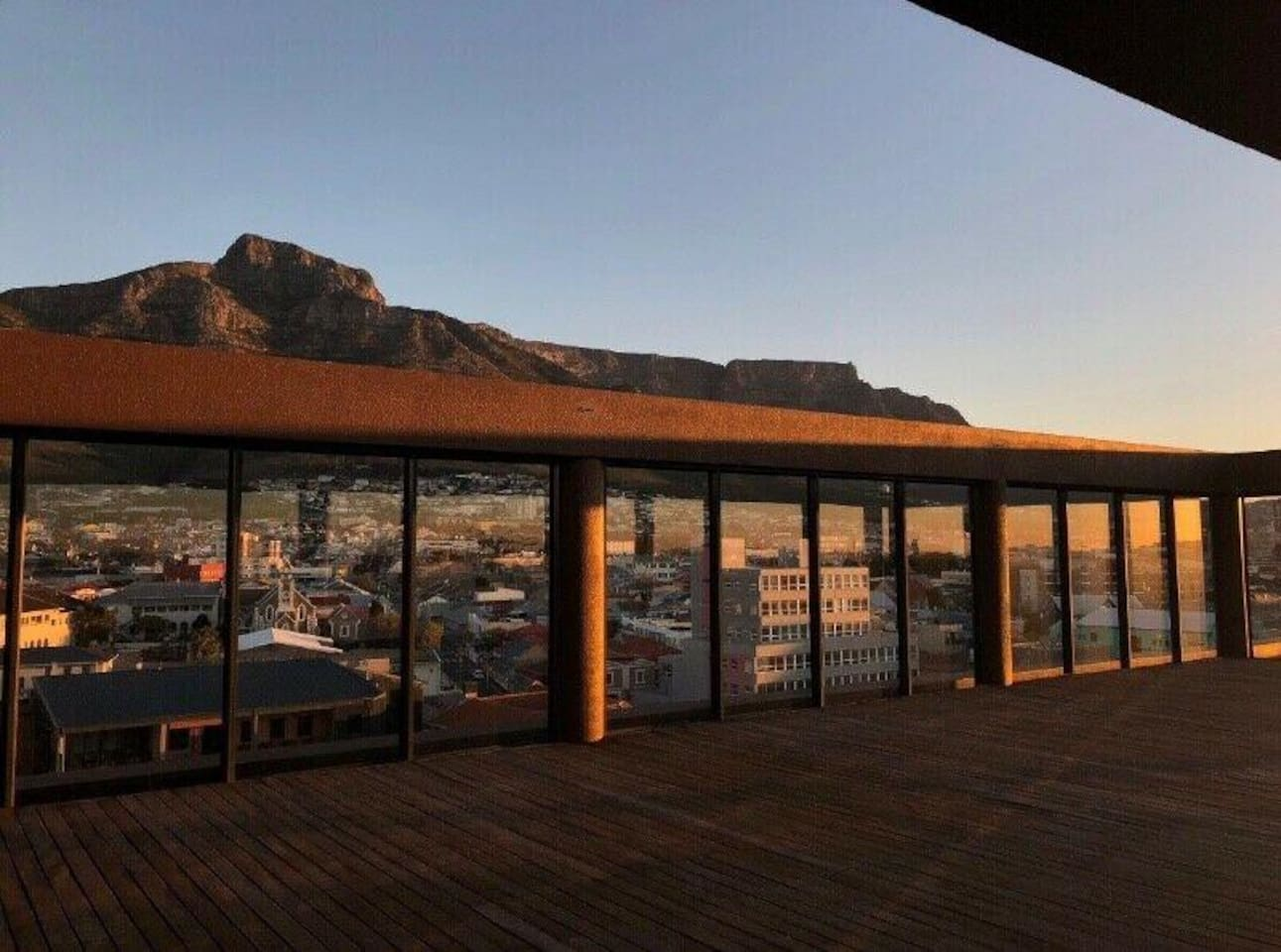 Rooftop entertainment area with spectacular views of Cape Town