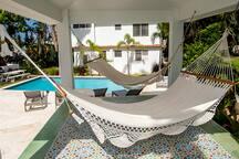 Gazebo with over sized hammocks