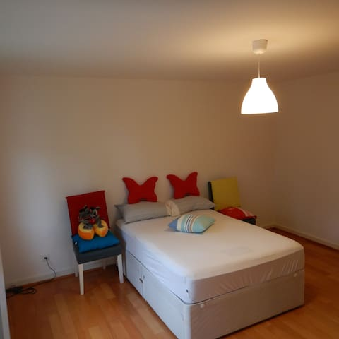Large Room Comfortable Bed, Free Basel Card.3D