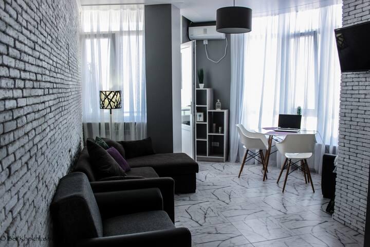 2х комн. апартаменты с реальным видом на море