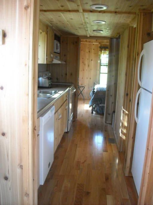 Keuka's galley style kitchen
