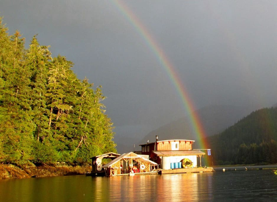 Rainbow over Camp Coogan Bay