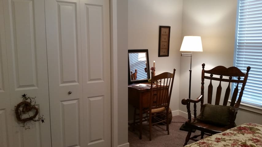 Private study nook and large double closet.