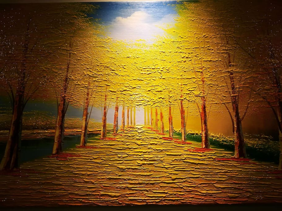 """The painting in the family hall """"GOLDEN LAND @满地黄金"""""""