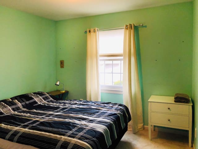 2nd Bedroom, equally big. Queen bed. Everything new. We use top quality linens