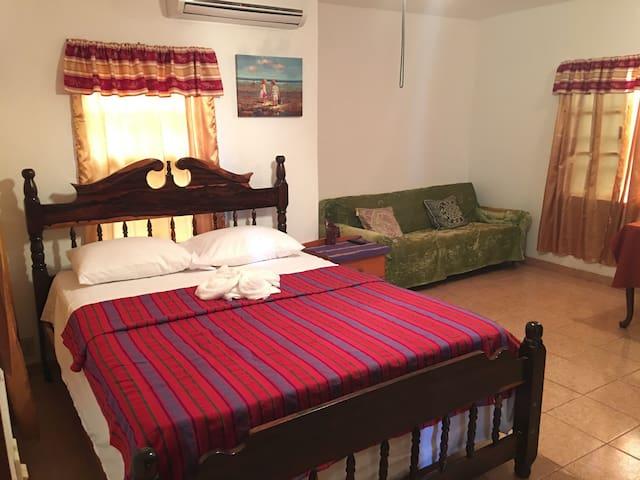 Private room in a Belizean home